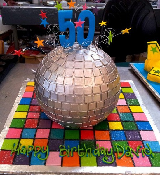 3d Disco Ball Shaped Wicked Chocolate Cake, Decorated With Multi