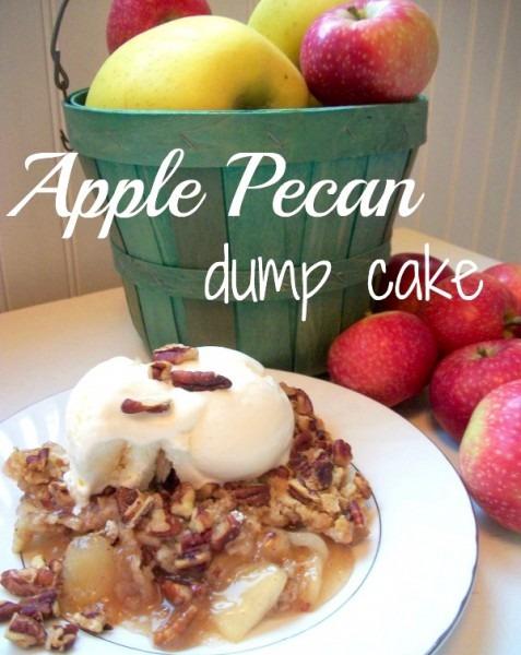 Apple Pecan Dump Cake Recipe! {fall Favorite}