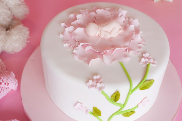 Baby Shower Cakes New Jersey Nj  Baby In Flower Cake