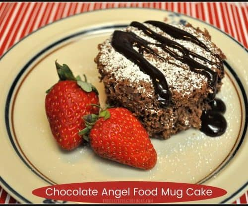 Chocolate Angel Food Mug Cake   The Grateful Girl Cooks!