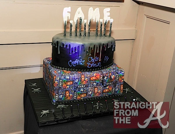 Chris Brown Cake