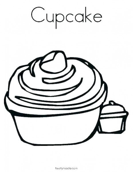 Cupcake Colouring Sheet Cupcake Coloring Pages Online Top Free