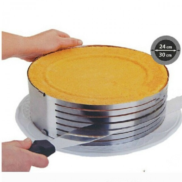 Cutter Metal Circle Adjustable Stainless Steel Mousse Cake Layer