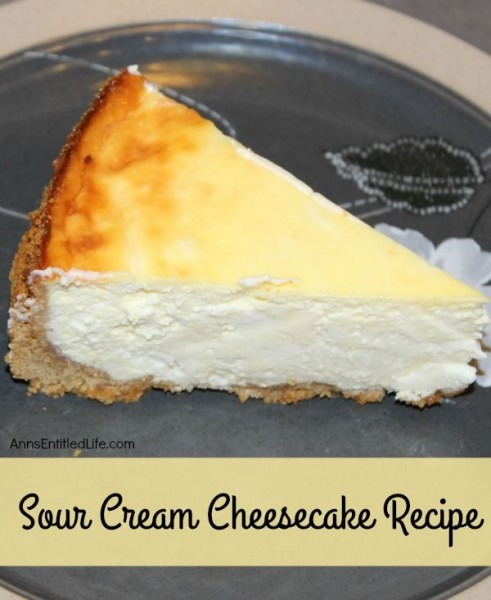 This Sour Cream Cheesecake Recipe Is Creamy And Delicious  Easy To