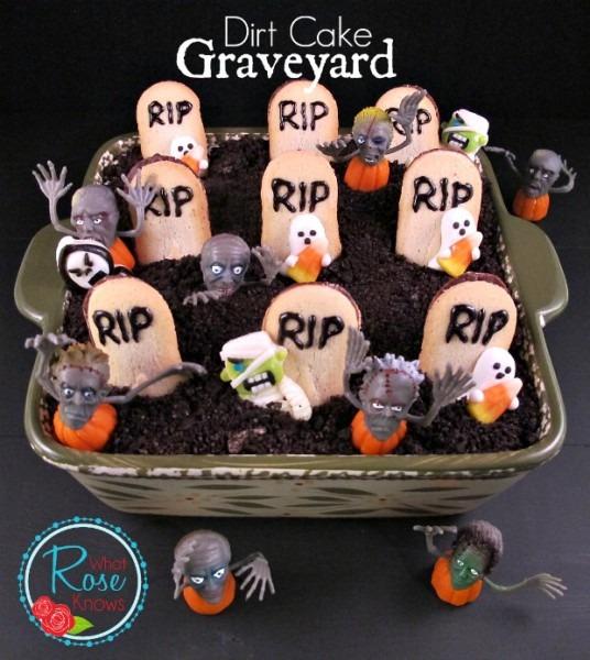 Dirt Cake Graveyard Halloween Party Idea Dirt Cake Graveyard What