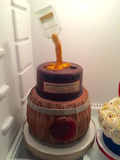 Woodford Reserve Bourbon Barrel Birthday Cake