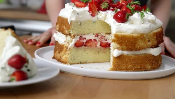 Strawberry Shortcake With Thyme And Whipped Cream Recipe