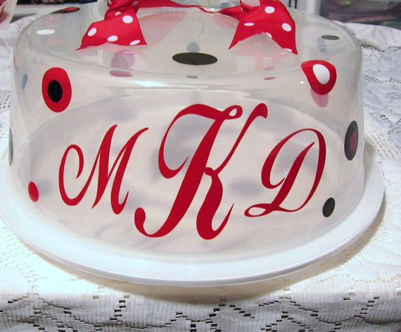 Fancy Up  The Plastic Cake Carriers With This Type Idea To Give As