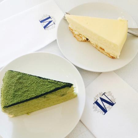 Green Tea Mille Crêpe And Cheesecake