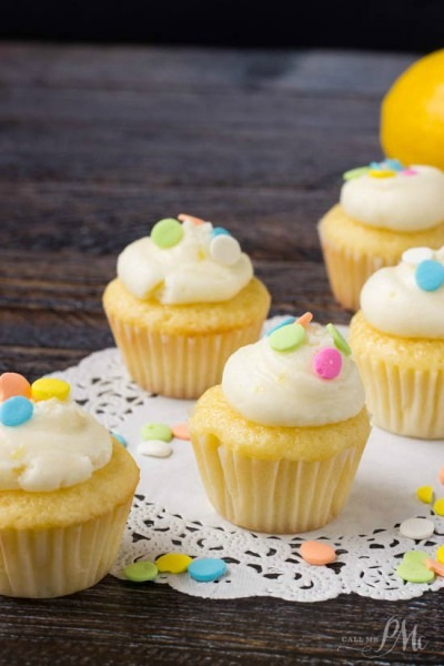 How To Make Lemon Mini Cupcakes   Call Me Pmc
