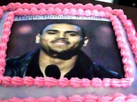 Chris Brown Themed Cake