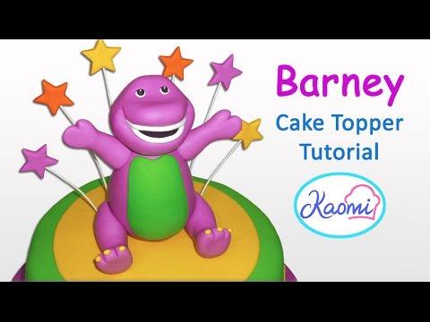 How To Make Barney (cake Topper)   Cómo Hacer Un Barney Para