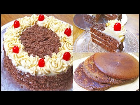 Black Forest Cake In Fry Pan