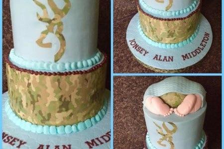 40 Better Hunting Baby Shower Cake Stock