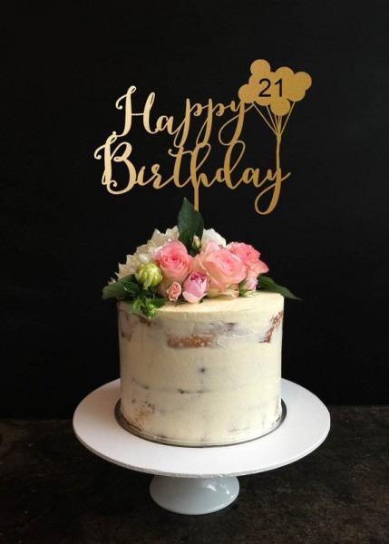 Birthday Cake Topper Custom Happy Birthday Cake Topper For