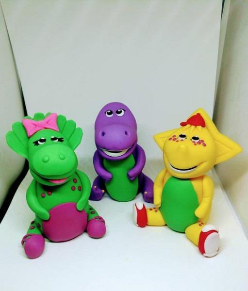 Barney And Friends Cake Toppers Fondant Barney Fondant