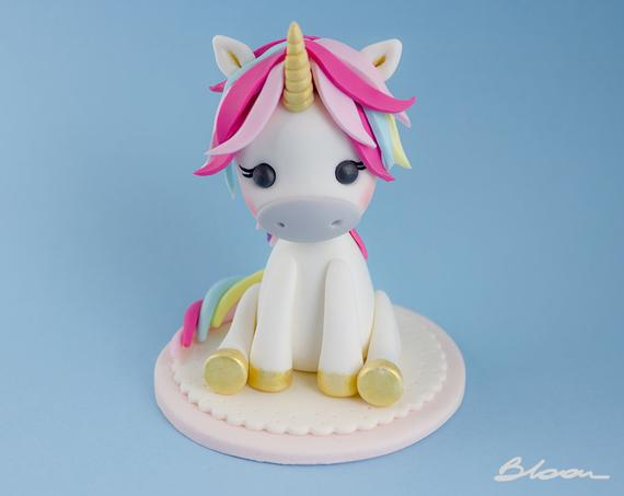 Little Unicorn Cake Topper Unicorn Topper Unicorn Cake