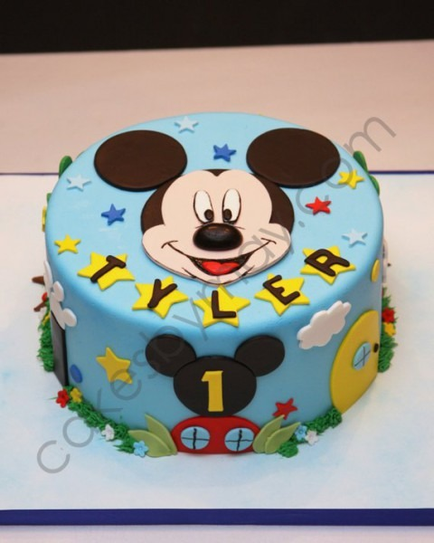 Mickey Mouse Fondant Cake Topper