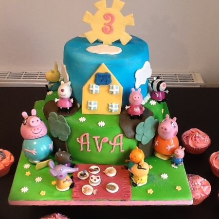 Little Girl's Peppa Pig Cake