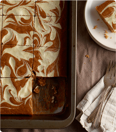 Krusteaz Pumpkin Swirl Snack Cake Recipe