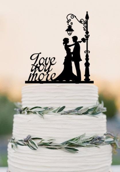 Aliexpress Com   Buy Love You More Cake Topper, Wedding Cake