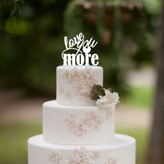 Love You More Wedding Cake Topper, Wedding Cake Decor, Wedding