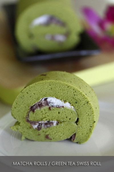 Matcha Roll (green Tea Swiss Roll)