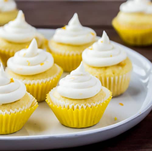 Mini Lemon Cupcakes With Lemon Buttercream Icing