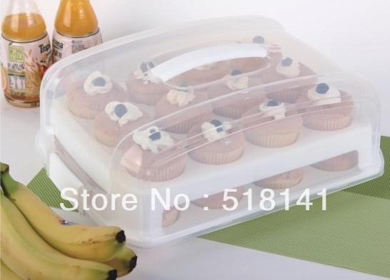 New Arrival Free Shipping Plastic Cupcake And Cake Carrier Cupcake