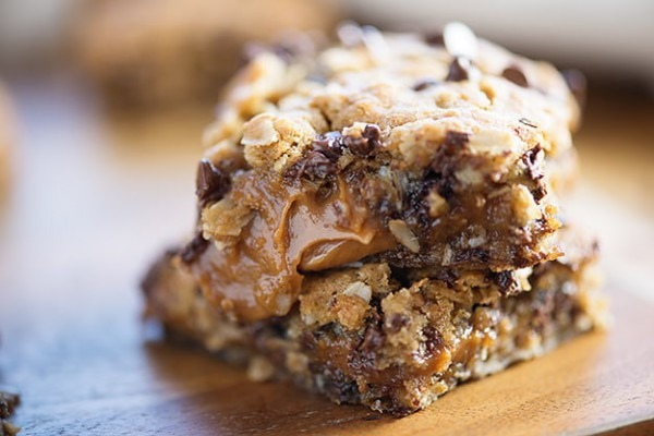 Peanut Butter Caramel Oatmeal Cookie Bars — Buns In My Oven