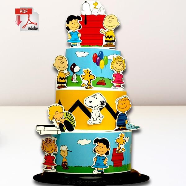 Peanuts And Charlie Brown Diaper Cake