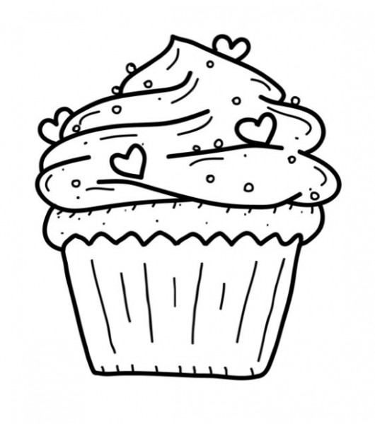 Printable Cupcake Coloring Pages  3888 Cupcake Coloring Pages
