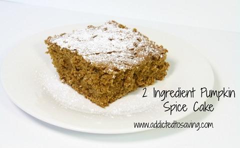 Two Ingredient Pumpkin Spice Cake Recipe
