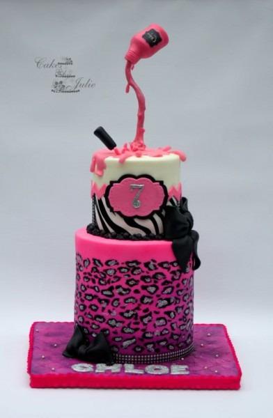 Gravity Nail Polish Cake