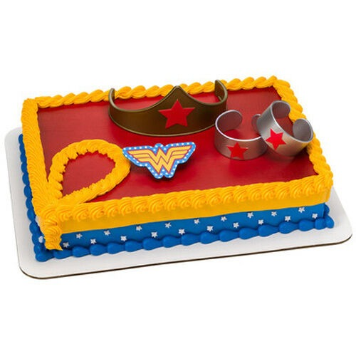 Wonder Woman 4 Piece Cake Kit Decoration Supplies Party Favors For