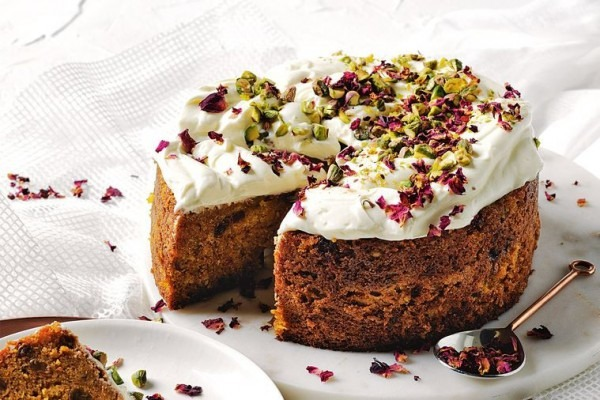 Spiced Carrot Cake With Labneh Icing