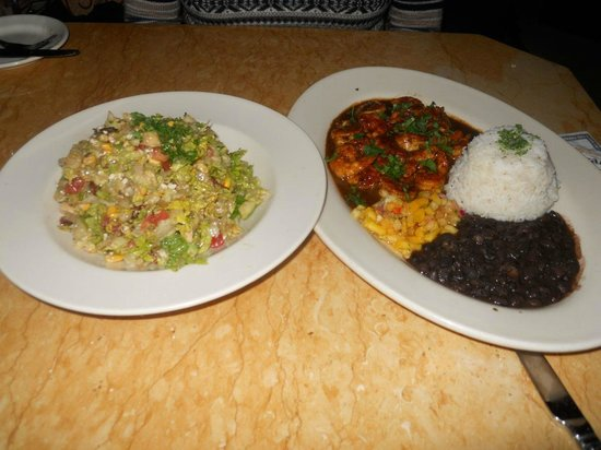 Chopped Salad And Jamaican Shrimp