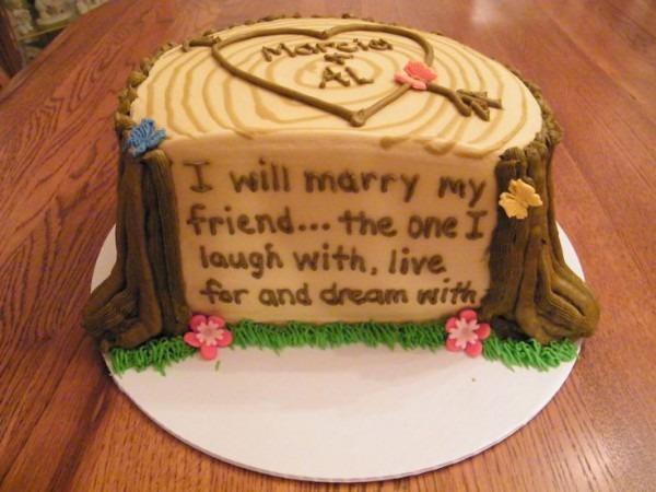 12 Wedding Rehearsal Cakes Photo