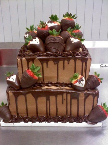 Chocolate Square Groom's Cake