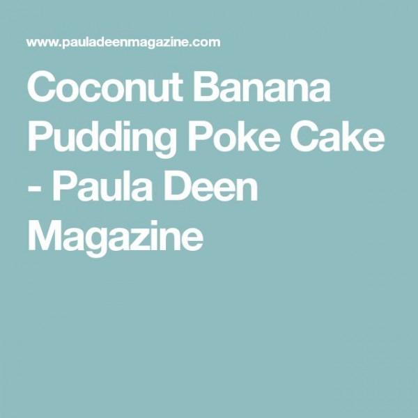 Coconut Banana Pudding Poke Cake