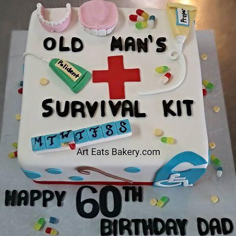 Phenomenal Old Man Cake Funny Birthday Cards Online Fluifree Goldxyz