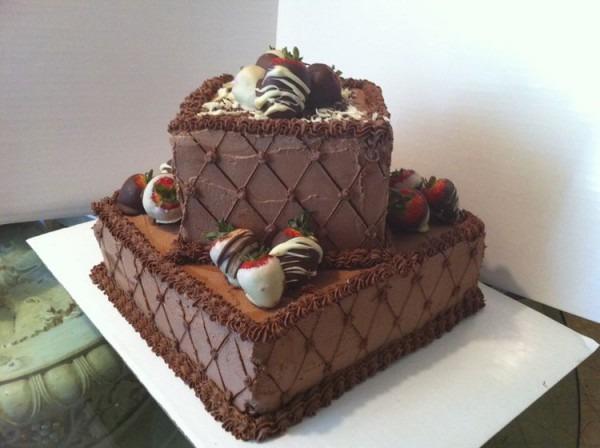 2 Tier Chocolate Groom's Cake