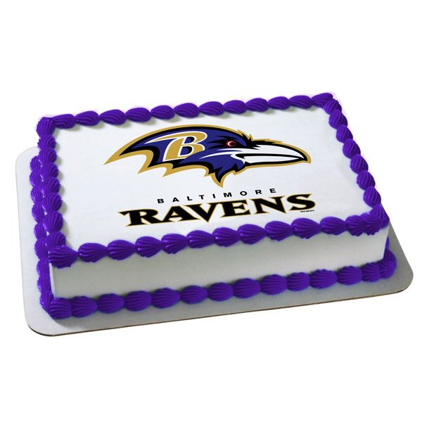 Nfl Baltimore Ravens Edible Image Cake Decoration Free Shipping