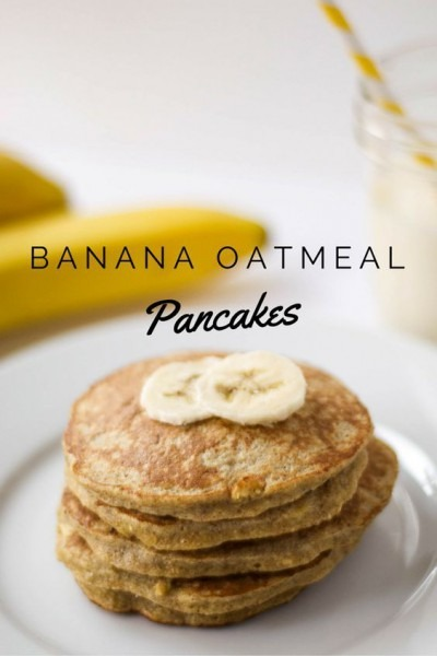 Banana Oatmeal Pancakes  Added A Scoop Of Protein Powder, And