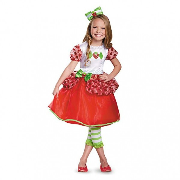 Amazon Com  Little Girls' Strawberry Shortcake Costume Dress Bow
