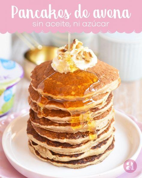 Pancakes, Tortitas, Hotcakes O Panqueques De Avena Y Banana, Sin