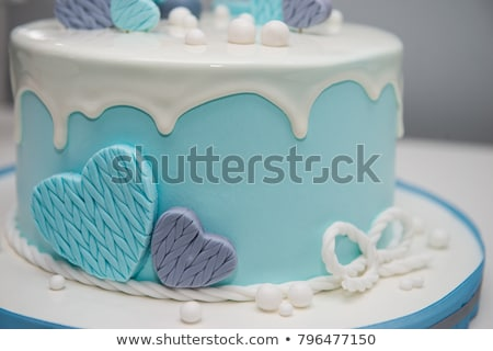 Colorful Decoration First Year Birthday Cake Stock Photo (edit Now