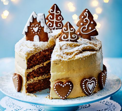 Gingerbread Cake With Caramel Biscuit Icing Recipe
