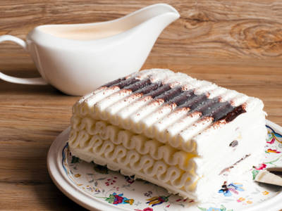 Homemade Viennetta Ice Cream Cake