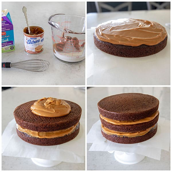 Chocolate Dulce De Leche Triple Layer Cake